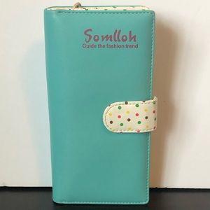 🐈 Women's Clutch Wallet Polka Dot Inside